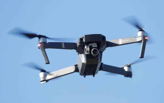 A drone is flown near Gravesend, Britain, September 26, 2018. REUTERS/Peter Nicholls