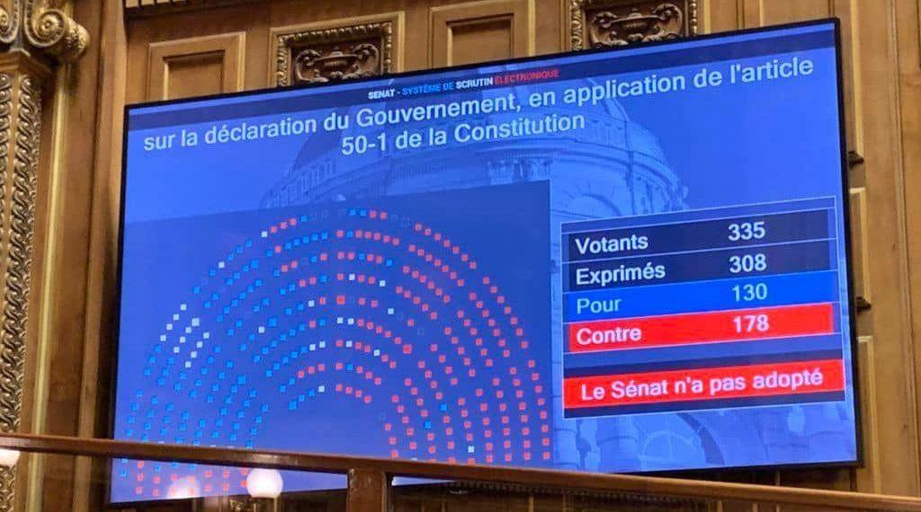 URGENT ! Covid-19 en direct : le Sénat refuse son soutien au gouvernement et au reconfinement